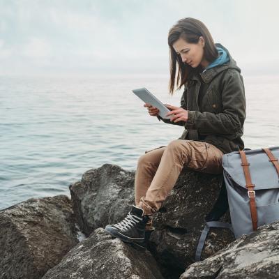 Mulher a ler